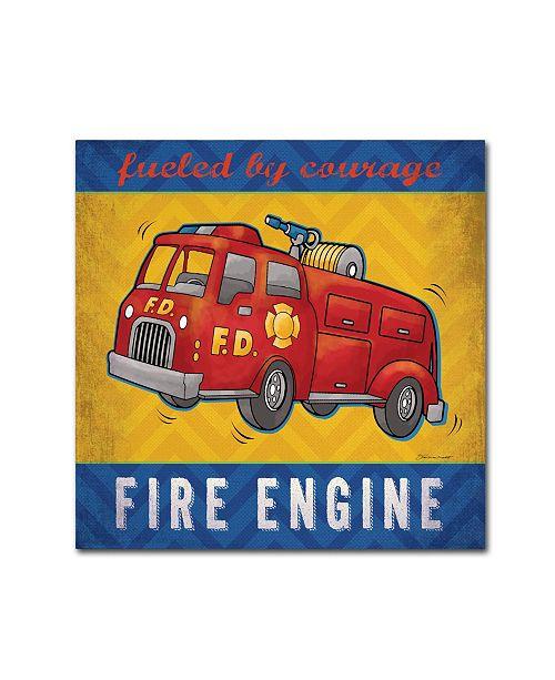 "Trademark Global Stephanie Marrott 'Fire Engine' Canvas Art - 35"" x 35"""