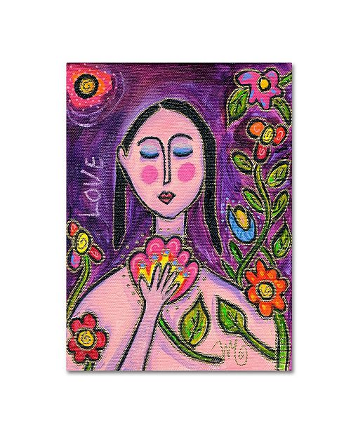 "Trademark Global Wyanne 'Big Diva Flower Goddess' Canvas Art - 24"" x 32"""
