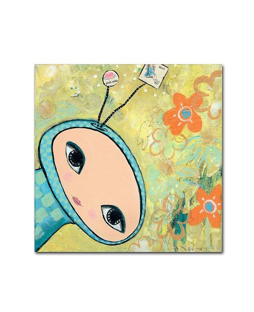 "Trademark Global Wyanne 'Big Eyed Spacey Girl' Canvas Art - 35"" x 35"""