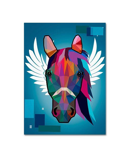 "Trademark Global Mark Ashkenazi 'Wpap Horse 2' Canvas Art - 24"" x 32"""