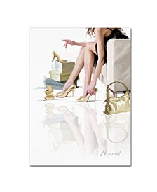 "The Macneil Studio 'Buying Shoes' Canvas Art - 35"" x 47"""