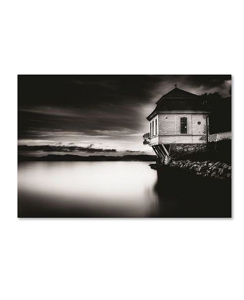 "Trademark Global Erik Brede 'House by the Sea' Canvas Art - 30"" x 47"""