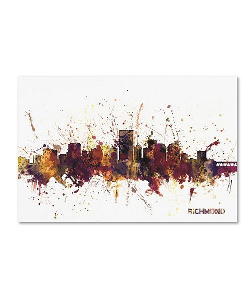 "Trademark Global Michael Tompsett 'Richmond Virginia Skyline III' Canvas Art - 22"" x 32"""