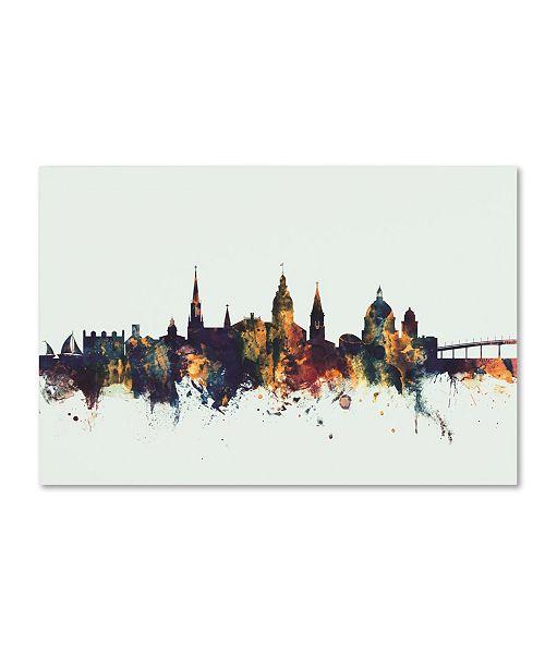 "Trademark Global Michael Tompsett 'Annapolis Maryland Skyline V' Canvas Art - 30"" x 47"""