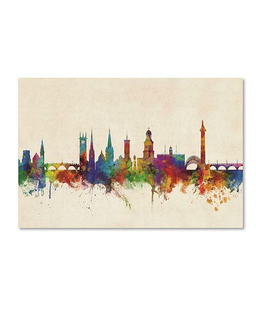 "Trademark Global Michael Tompsett 'Shrewsbury England Skyline' Canvas Art - 22"" x 32"""