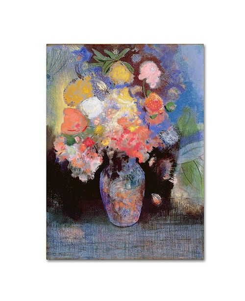 "Trademark Global Odilon Redon 'Flowers' Canvas Art - 24"" x 32"""