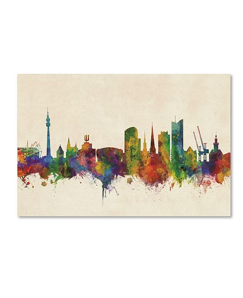 "Trademark Global Michael Tompsett 'Dortmund Germany Skyline II' Canvas Art - 22"" x 32"""