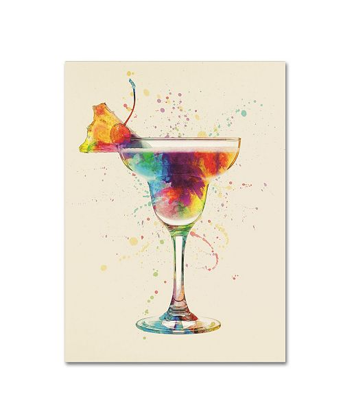 "Trademark Global Michael Tompsett 'Cocktail Drinks Glass Watercolor VII' Canvas Art - 35"" x 47"""