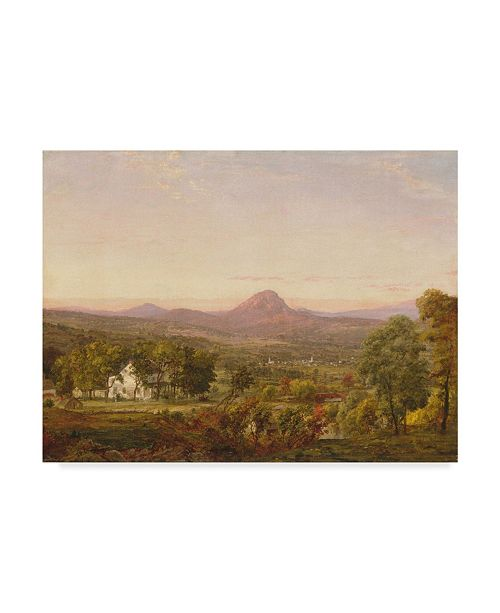 "Trademark Global Jasper Francis Cropsey 'Autumn Landscape Sugar Loaf Mt' Canvas Art - 24"" x 32"""