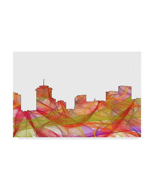 "Trademark Global Marlene Watson 'New Orleans Louisiana Skyline Swirl' Canvas Art - 30"" x 47"""