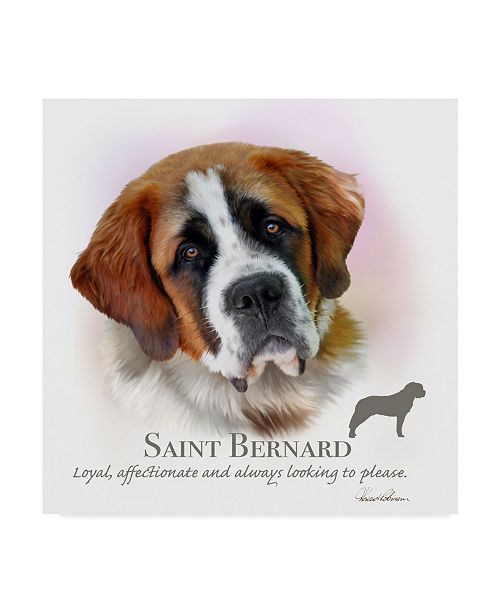 "Trademark Global Howard Robinson 'Saint Bernard' Canvas Art - 35"" x 35"""