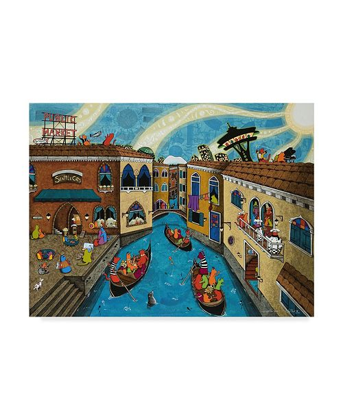 "Trademark Global Jake Hose 'If Seattle Were Venice' Canvas Art - 24"" x 32"""
