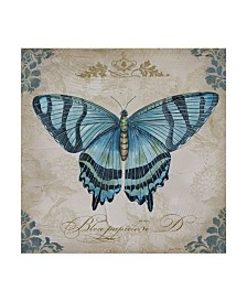 "Jean Plout 'Large Blue Butterfly' Canvas Art - 35"" x 35"""