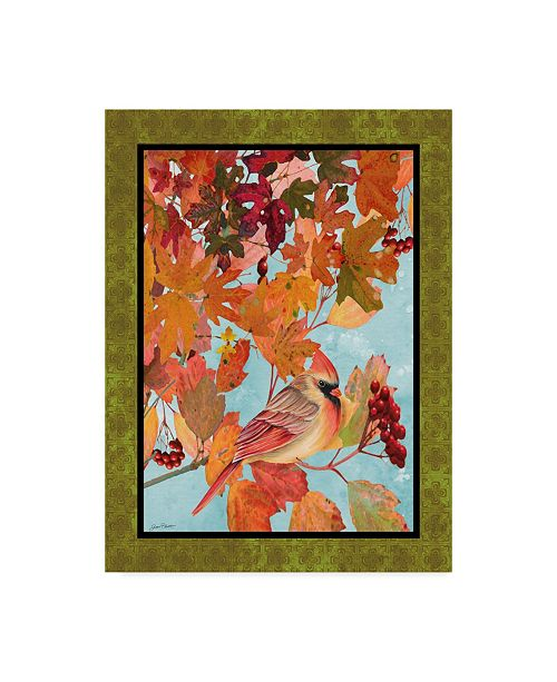 "Trademark Global Jean Plout 'Cardinals In The Fall' Canvas Art - 35"" x 47"""
