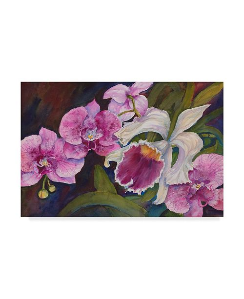 "Trademark Global Joanne Porter 'Orchid' Canvas Art - 30"" x 47"""
