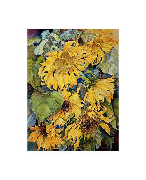 "Trademark Global Joanne Porter 'Cascading Sunflowers' Canvas Art - 24"" x 32"""