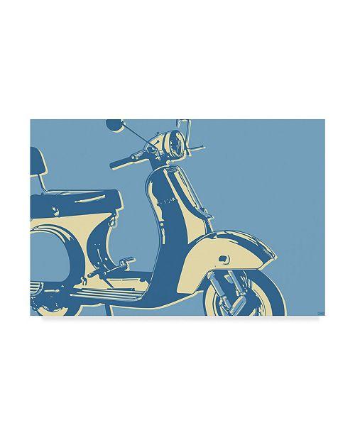 "Trademark Global John W. Golden 'Motoretta' Canvas Art - 22"" x 32"""