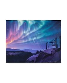"""Kirk Reinert 'Sky Watchers' Canvas Art - 24"""" x 32"""""""