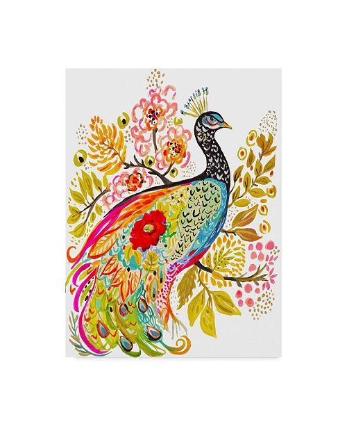 "Trademark Global Karen Fields 'Peacock Ornate' Canvas Art - 24"" x 32"""