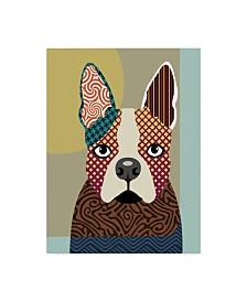 "Lanre Adefioye 'Boston Terrier' Canvas Art - 35"" x 47"""