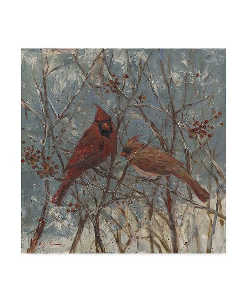 "Trademark Global Mary Miller Veazie 'Mr And Mrs Cardinal' Canvas Art - 35"" x 35"""