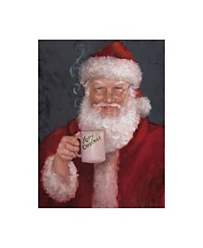 "Mary Miller Veazie 'Santa With A Mug' Canvas Art - 35"" x 47"""