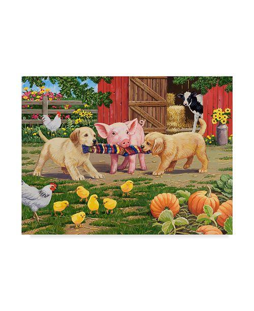"""Trademark Global William Vanderdasson 'Tug Of War' Canvas Art - 24"""" x 32"""""""