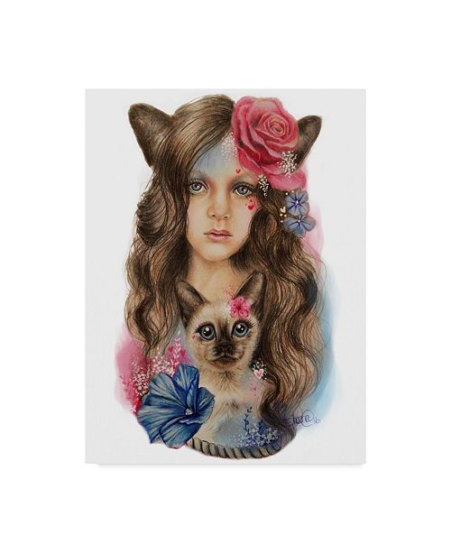 "Trademark Global Sheena Pike Art And Illustration 'Sweetheart' Canvas Art - 35"" x 47"""