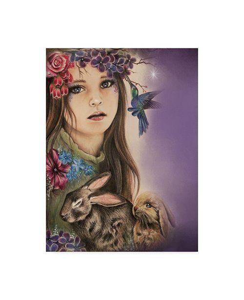 "Trademark Global Sheena Pike Art And Illustration 'Spring Seasons' Canvas Art - 35"" x 47"""