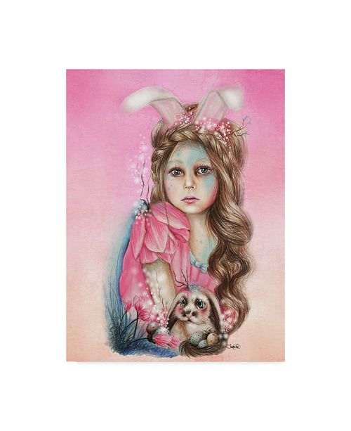 "Trademark Global Sheena Pike Art And Illustration 'Bunny Only Friend' Canvas Art - 35"" x 47"""