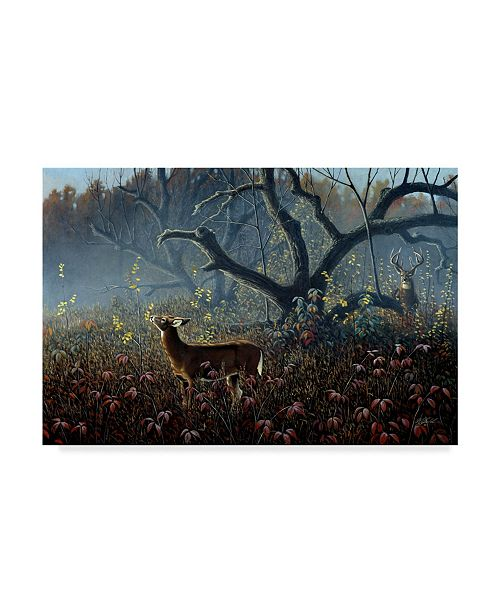 "Trademark Global Wilhelm Goebel 'Old Orchard Whitetails' Canvas Art - 22"" x 32"""
