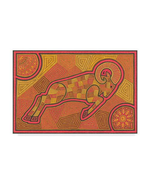 "Trademark Global Willow Bascom 'Aries' Canvas Art - 30"" x 47"""