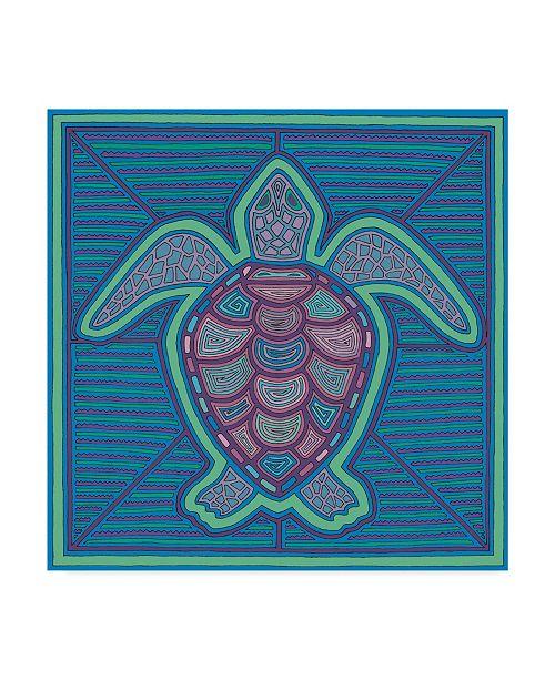 "Trademark Global Willow Bascom 'Turtle' Canvas Art - 35"" x 35"""