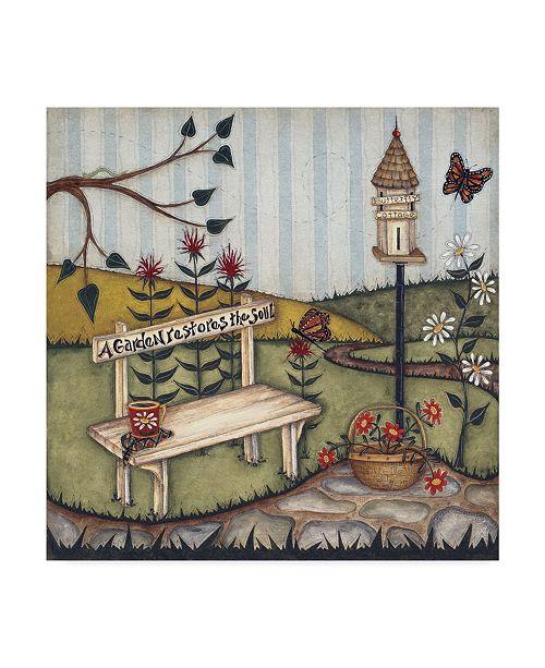 """Trademark Global Robin Betterley 'A Garden Restores The Soul' Canvas Art - 24"""" x 24"""""""