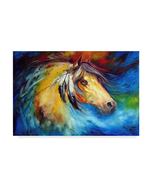"Trademark Global Marcia Baldwin 'Blue Thunder War Pony' Canvas Art - 47"" x 30"""