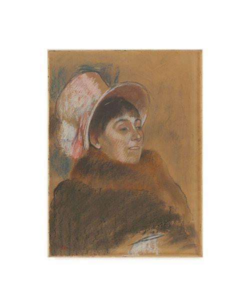 "Trademark Global Edgar Degas 'Madame Dietzmonnin' Canvas Art - 32"" x 24"""