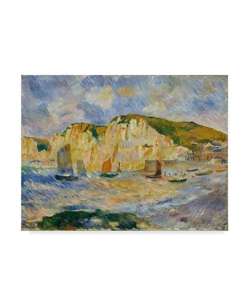 "Trademark Global Pierre Auguste Renoir 'Sea And Cliffs' Canvas Art - 32"" x 24"""