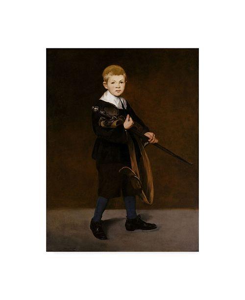 "Trademark Global Edouard Manet 'Boy With A Sword' Canvas Art - 47"" x 35"""