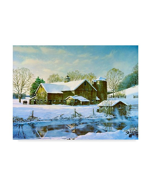 "Trademark Global Jack Wemp 'Winter Reflections' Canvas Art - 32"" x 24"""