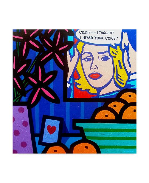 "Trademark Global John Nolan 'Homage To Lichtenstein' Canvas Art - 35"" x 35"""