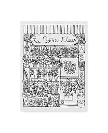 """Jessica Putnam 'Paris Flower Shop' Canvas Art - 35"""" x 47"""""""