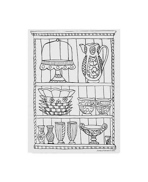 "Trademark Global Jessica Putnam 'China Cabinet 4' Canvas Art - 35"" x 47"""