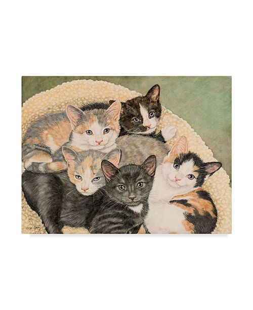 "Trademark Global Jan Benz 'Gracie's Kittens' Canvas Art - 32"" x 24"""
