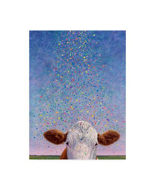 "Trademark Global James W. Johnson 'Celebration Cow' Canvas Art - 35"" x 47"""