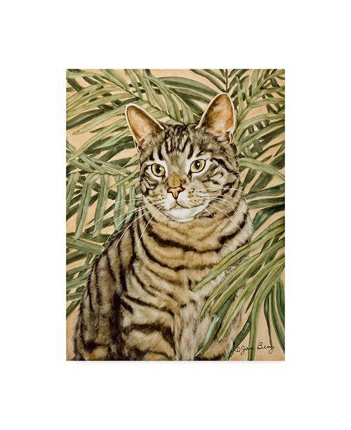 "Trademark Global Jan Benz 'Tiger Domestic' Canvas Art - 35"" x 47"""