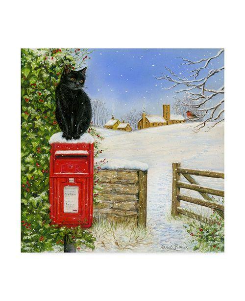 "Trademark Global Janet Pidoux 'Christmas Post Box' Canvas Art - 35"" x 35"""