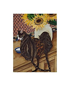 "Jan Panico 'Kitchen Cats' Canvas Art - 35"" x 47"""