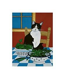 "Jan Panico 'Sweet Peas And Garden Peas' Canvas Art - 35"" x 47"""