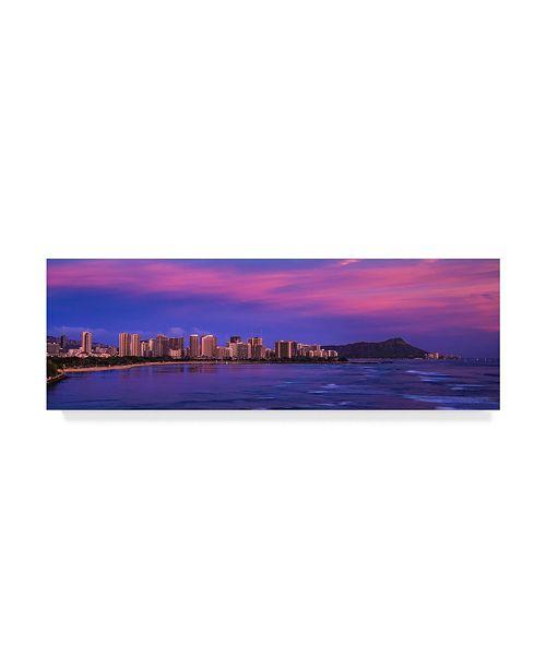"Trademark Global Jason Matias 'Honolulu At Sunset' Canvas Art - 47"" x 16"""