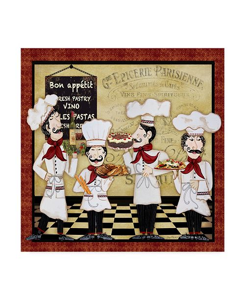 "Trademark Global Jean Plout 'French Chefs' Canvas Art - 35"" x 35"""